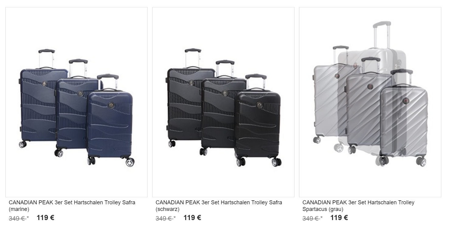 buying now hot product discount Canadian Peak Sale – Koffer und Trolleys 60% günstiger ...