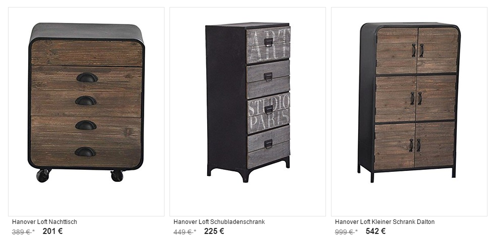 hanover loft m bel zum halben preis 50 schn ppchenblog gutscheinportal. Black Bedroom Furniture Sets. Home Design Ideas